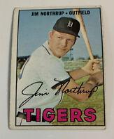 1971 Topps #265.1 Jim Northrup Detroit Tigers Baseball Card Black Blob