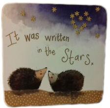 Stargazers Corked Backed Coaster, Hedgehogs, Alex Clark, Love, Romance C103