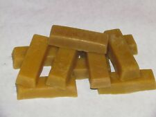 PURE BEESWAX 1 OZ BAR DARK GOLD, ALL NATURAL, FILTERED, HAND POURED