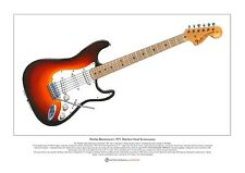 Ritchie Blackmore's Machine Head Strat Limited Edition Fine Art Print A3 size