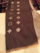 fd20eae70b01b Original Louis Vuitton Monogram Tuch Schal Shawl Marron Braun Beige Zwei  Farbe.