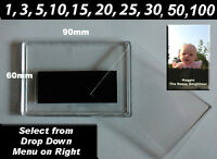 BLANK PHOTO FRIDGE MAGNETS 90 x 60mm (1,3, 5,10,15,20, 25,30, 50, 100 ) ACRYLIC