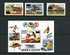 T434  Sierra Leone 1985 Olympic winners  SURCHARGED     MNH