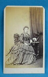 Victorian CDV Photo Carte De Visite Attractive Young Lady Fashion Bishop London