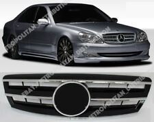 Mercedes S class W220 grille,LCI 2002+,AMG look,S65,S55:Central Star,Gloss Black