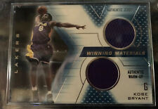 Kobe Bryant 2001 Upper Deck SPx Winning Materials Game Used Dual Jersey Card