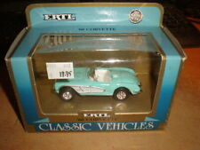 Ertl  1/43 '60 Chevrolet Corvette open convertible  light blue     MIB