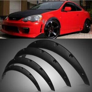 4Pcs Fender Flares 3.5'' 3.1'' Extra Wide Body Kit Wheel Arches Cover Universal