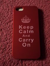 iphone 5 hard case red keep calm carry on