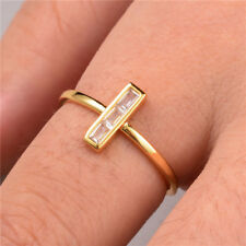 Fashion Cross 925 Silver,gold,rose Gold Wedding Ring White Sapphire Size 6-10