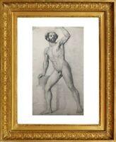 LE MULHOUSIEN EMILE ZIPELIUS (1840-1865) NU MASCULIN ACADEMIE vers 1860 (230)