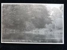 OLD POSTCARD OF CORNWELL MANOR THE LAKE - UNUSED