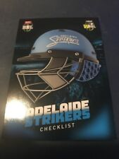 2017 TAP N PLAY BBL Checklist Helmet Cricket Card Adelaide Strikers