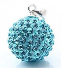 925 Sterling Silver Rhinestone Crystal Pendant