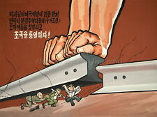 "North KOREA Anti-American Propaganda Poster On Canvas Print 8x10"" #062"