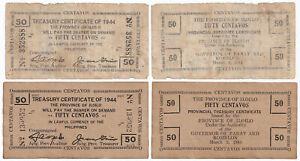ILOILO 50 Centavo Philippine WW2 1944 Treasury Certificate for Panay & Romblon