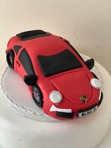 Edible LARGE PORSCHE CAR  Cake Decoration Cake Topper