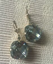 CATHERINE POPESCO La Vie Parisienne Blue Indian Sapphire Crystal Gold Earrings