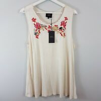 [ W5 ]  Womens Embroidered Top NEW | Size M or AU 12 / US 8