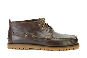 Sperry Top Sider Mens A/O Mini Lug Chukka Boots Brown Leather