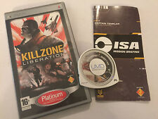 SONY PSP PORTABLE PLAYSTATION GAME Killzone Liberation + Caja instrucción completa