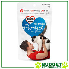 Love em Purrfect Beef Liver Treats For Cats 90gm