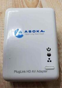 1 Asoka 200MB Portable Ethernet PlugLink PL9660-Q1 AV Adapter T3