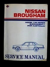 "Nissan BROUGHAM "" Y30 Series "" 1985 Genuine SERVICE MANUAL supplement"