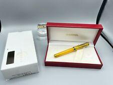 Sheaffer Levenger Connaisseur Yellow Sun Fountain Pen 14k Fine Nib New Boxed