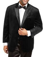 INC Men Blazer Black Size 2XB Big Velvet Satin Trim Slim-Fit Peak-Lapel $189 054