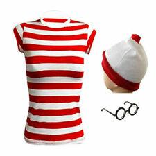 New Women,s  Wheres Wally Kit Book Week Days Girls Boys Fancy Dress Costume Kid