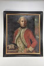 g62e02- Gemälde Offiziersportrait, verso sign. Louis d'Acosta pinxit 1771