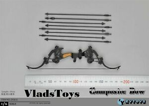 Compound Bow w/Sight & Arrows 1/6 scale Toy accessory Zy Toys ZY16-5A USA
