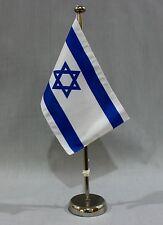 """BANDIERINA TABELLA """" ISRAELE """" 25x15 cm con CROMATA 44 cm supporto"""
