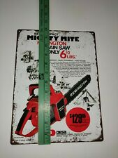 "1971 REMINGTON Mighty Mite Red Chainsaw Man cave Garage Metal Sign 9x12"" A132"