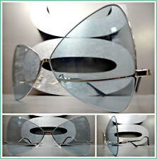 OVERSIZE RETRO Style SUN GLASSES Butterfly Bow Shaped Frame Rare Mint Green Lens