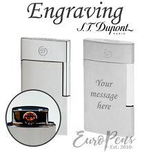 Dupont ST E-Slim Electronic Lighters - Choose Brushed or Matte Chrome - UK Stock