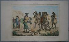 1836 print ABORIGINES RECEIVING GIFTS, KING GEORGE SOUND, WESTERN AUSTRALIA #256