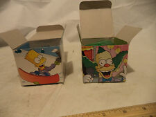 Lot Of 2 Burger King 2002 Watches 1-Krusty- 1-Bart NIB