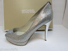 Michael Kors Size  10 M Silver Glitter Heels New Womens Shoes