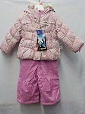 GIRLS SIZE 18M ZERO XPOSUR PINK/GRAY LEOPARD PRINT SNOWSUIT NEW NWT #4854
