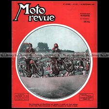 MOTO REVUE N°957 MOTEUR JAP MORETTI 125 FUCHS FM 40 VUE ECLATE YDRAL 125 CC 1949