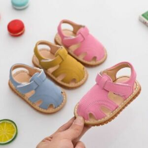 Baby Sandals Boy's Toddler Soft Bottom Baby Sound Shoes Kid's Non-slip