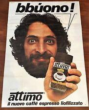 MANIFESTO,POSTER AFFICHE ,ATTIMO CAFFE' ESPRESSO ANDY LUOTTO 1979  Arbore