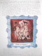 """DONALD FRIEND AUSTRALIAN BUMBOOZIANA LITHOGRAPH """"POUR LE SPORT ! """" 1979"""