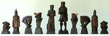 """AUTENTICHE VINTAGE TIROLESE intagliati a mano figurine/Busto set di scacchi K = 120mm (4.8"""")"""