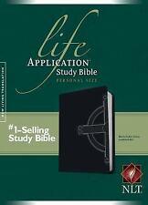 NLT Life Application Study Bible, Personal Size (Black Celtic Cross Leatherlike)