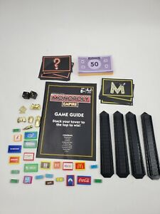 Lot of Monopoly Empire Replacement Parts Gold Game Pieces Billboard