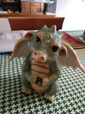 Adorable dragon with fiber optic wings medium size new !