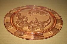 "Pink Sharon Cabbage Rose 11-1/4"" Footed Cake Plate"